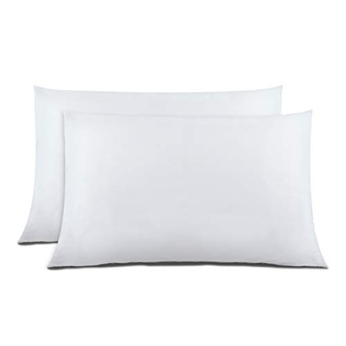Cok Standard Pillow Cases White, 20x26 Inch Standard Size Pillowcases Only, Ultra Soft Polyester Microfiber Pillow Cover, Comfortable & Breathable Pillow Protectors - 2 Pack (White, Standard)