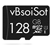 128gb micro sd cards - vBsoiSot Memory Card 128GB with SD Adapter (Standard Packaging) V/TF/128 - Class 10
