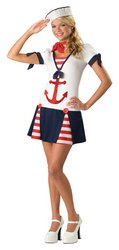 Cute Sailor Costumes Girls (In Character New Teen Girls Cute 40s Navy Sailor Halloween Costume S)