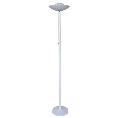 NEW Halogen Torchiere Floor Lamp Black Silver Burgundy White (White)