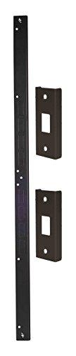 Door Armor Mini — Door Reinforcement Kit in Aged Bronze — DIY Home Security (Door Security Strike)
