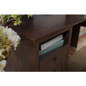 Durable work surface with open storage