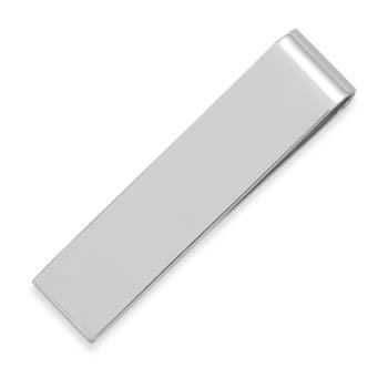 Small Polished Money Clip Polished sterling silver money clip measures 52mm x 12mm. .925 Sterling Silver