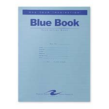 Roaring Spring Paper Products : Exam Book, Wide Ruled, 4 Shts, 11''x8-1/2'', 100/PK, Blue -:- Sold as 2 Packs of - 100 - / - Total of 200 Each by Roaring Spring