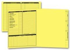 EGP Letter Size Real Estate Listing Folder Left Panel - Yellow - 50 Folders by EGPChecks