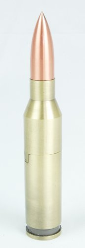 .30-06 Cartridge Butane Torch Lighter - Solid Metal - Refillable - 6