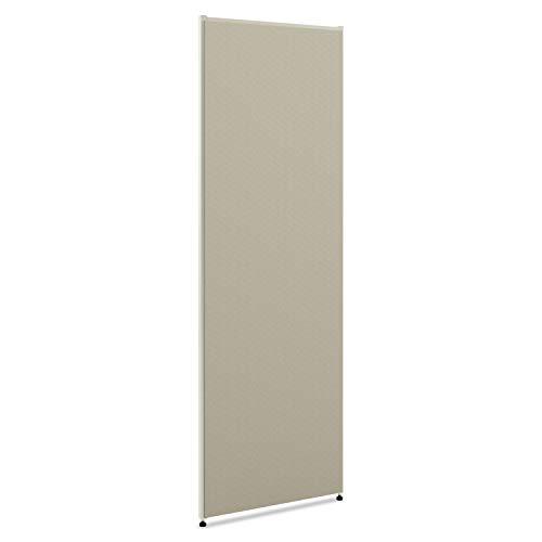 "HON Verse Panel , 72""H x 60""W , Light Gray Finish , Gray Fabric"