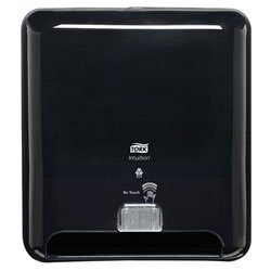 5511282 Tork Elevation Towel Dispenser Black, No Touch Stops Cross-Contamination