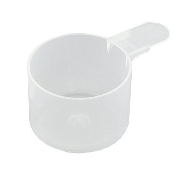 118.4 cc (4 fl oz. (1/2 Cup)) Short Handle Scoop for Powder Measuring and Packaging (Pack of 5)
