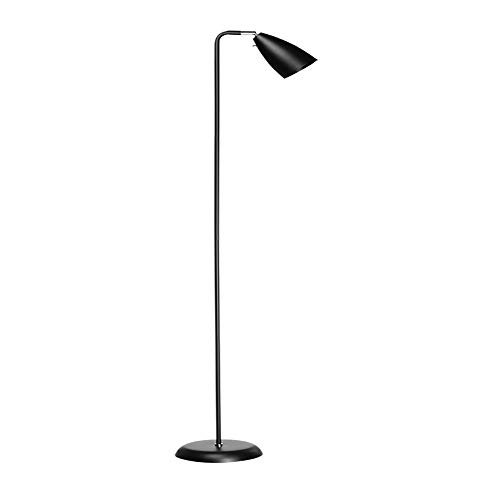 Simple Floor Lamp Nordic Style Living Room Bedroom Study Reading Vertical Table Lamp 143CM (Color : Black)