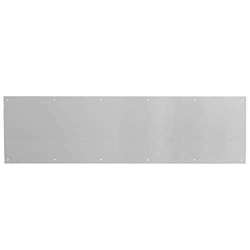 Door Kick Plate, 10-Inch x 34-Inch, Satin Nickel Aluminum, Pack of 1