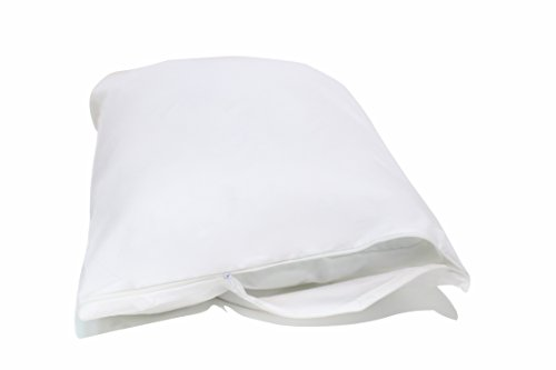 Allersoft Standard 2 Pack Allergy and Bed Bug Proof Pillow Cover, White (Proof Allergen Pillow Cases)