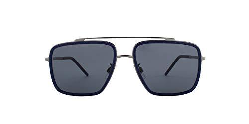 Dolce & Gabbana Men's 0DG2220 Sunglasses, Gunmetal/Matte Blue/Dark Grey, One ()