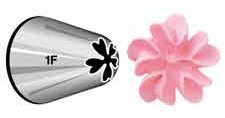 Wilton 402-1006 Drop Flower Decorating Tip, Silver
