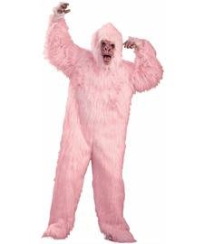 Pink Gorilla Costume (Pink Gorilla Ape Mask Costume Adult)