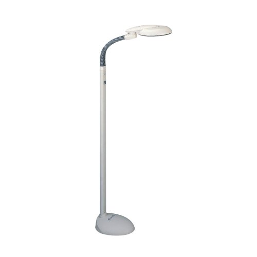 "Sunpentown SL-810 EasyEye Floor Lamp with Ionizer, 48"" x 9"" x 10"", Grey"