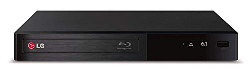 LG Electronics BP340 Blu-ray DVD Disc Player with Built-in Wi-Fi Internet Connection, 1080p and Full HD Upconversion, Plays Blu-ray Discs, DVDs and CDs, Plus High Speed HDMI Cable (Renewed)