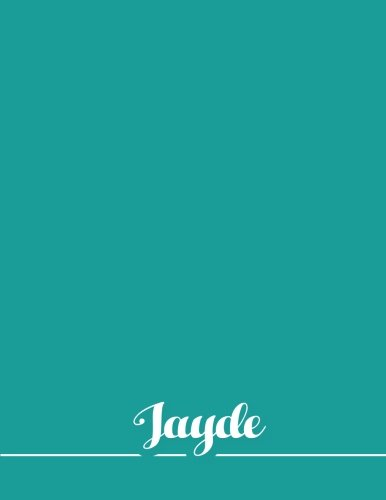 Read Online Jayde: 110 Pages 8.5x11 Inches Sea Pastel Design Journal with Lettering Name, Journal Composition Notebook for Girl pdf epub