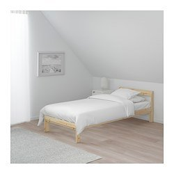 Ikea's Neiden Bed frame Bundle with Cleaning Cloth (Twin)