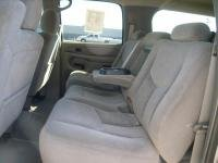 Chevy 3rd Seat Suburban (Durafit Seat Covers, 2003-2006 Chevy Suburban Middle 60/40 Split Seat With 3rd Seatbelt Integrated and Cup Holder on 60 Side. Made in Gray Twill)