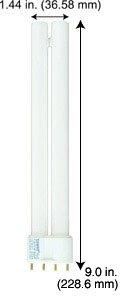 Compact Fluorescent Bulbs F18LTT/4P/865/9''/ECO (Case of 5)