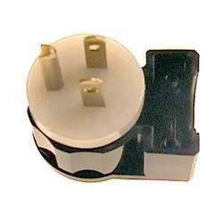 Leviton 5266-CA 15 Amp, 125 Volt, Angle Plug, Straight Blade, Industrial Grade, Grounding, ()