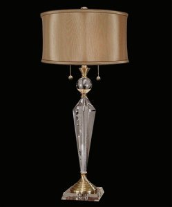 Dale Tiffany GT701218 Strada Crystal Table Lamp, 16'' x 16'' x 32.75'', Antique Brass
