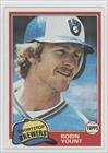 Robin Yount Milwaukee Brewers (Baseball Card) 1981 Topps #515