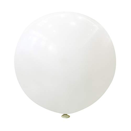 Neo LOONS 36 Inch Giant Latex Balloons, Standard White Round Balloons for Birthdays Weddings Receptions Festival Party Decoration, Pack of 10 Pcs ()
