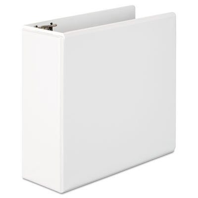 Basic D-Ring Vinyl View Binder, 4'' Capacity, White, Total 6 EA, Sold as 1 Carton by Wilson Jones