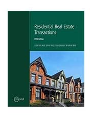 RESIDENTIAL REAL ESTATE TRANSACTIONS, 5TH EDITION