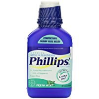 Magnesia Mint - Phillips' Fresh Mint Milk of Magnesia Liquid, 26oz Bottle (Pack of 2)
