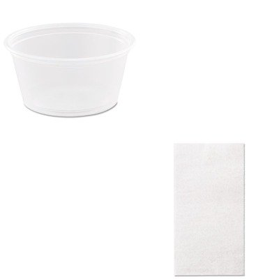 KITDRC200PCMRD5292 - Value Kit - Packaging Dynamics Eco-Pac Interfolded Dry Wax Paper (MRD5292) and Dart Conex Complements Portion/Medicine Cups (DRC200PC)