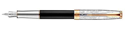Parker Sonnet SE Transit Fountain Pen Black 18 K M Blue (All Our Yesterdays Parker)