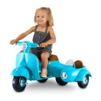 KidTrax 6-Volt Scooter with Sidecar (Blue)