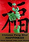 Chinese Feng Shui Hand Carved Jade Lucky Charm - Happiness