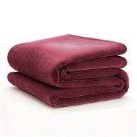 Vellux Original Blanket Twin (Case of 4) (Cranberry) (West Point Cotton Soft Blanket)