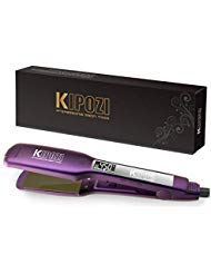 KIPOZI Professional Hair Straightener - 1.75 Inch Dual Voltage Titanium Flat Iron with Digital LCD Screen and Adjustable Temp Setting for All Kinds of Hair, Heats up Instantly, Purple ()