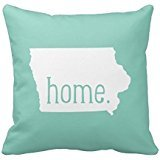 Iowa Home State Throw Pillow Cover Polyester Pillowcase Cushion Cover 18 x 18 Inches (Iowa Pillow)