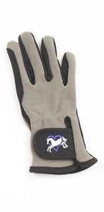 - Ovation Child Heart & Horse Gloves,Black/grey,size B 12-14