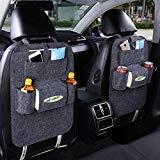 FULL WERK Car Seat Back Organizer Multi-Pocket Travel Storage Bag for Cars SUVs Trucks Vans (Deep Gray)