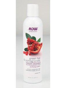 NOW Foods - Green Tea Pomegranate Facial Cream Cleanser 8 (Pomegranate Cream Cleanser)