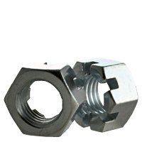 3/4''-16 Slotted Finish Hex Nut, Steel, Zinc Plated (Quantity: 200)
