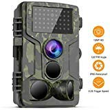 FHDCAM Trail Game Camera 1080P HD IP65 Waterproof 120°Wide Angle PIR Sensor Motion Activated Night Vision Hunting Camera for Wildlife and Home Surveillance Scouting Camera