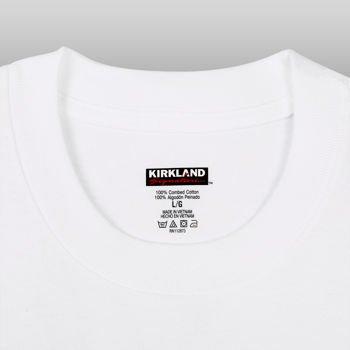 Kirkland Signature Mens Crew Neck 6 Pack,white,large