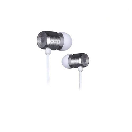 PSR Universe ERD In Ear Earphone Wired Headset with Mic for all 3.5 mm Jack Supported Mobile Phones  Silver