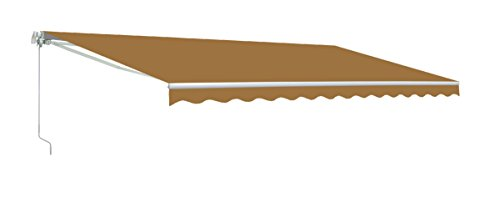 ALEKO Retractable 10 X 8 Feet Patio Awning Solid Beige Color by ALEKO