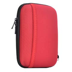 Hard Travel Carrying Case for Seagate Expansion,Backup Plus Slim,WD Elements,My Passport,Toshiba Canvio Basics Portable External Hard Drive,Electronics Organizer (Red) by Natiker (Image #1)