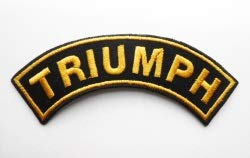 Curved Motorbike/Motor Sport/Biker, Embroidered, Iron-on 'Triumph' Badge Iron-on 'Triumph' Badge other
