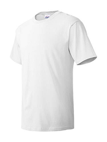 T-shirt 1 Cotton And - Men's 5.2 oz Hanes HEAVYWEIGHT Short Sleeve T-shirt, White, XX-Large